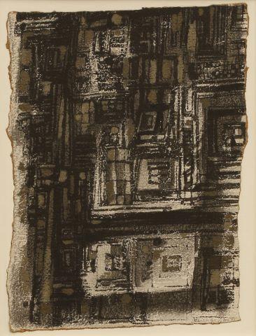 Composition en gris foncé