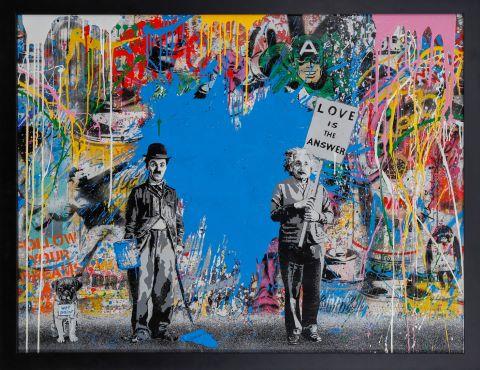 Juxtapose (Charlie Chaplin & Albert Einstein)