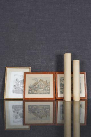 Important ensemble de gravures et coupures de presse