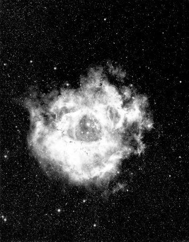 Nébuleuse de la Rosette (NGC 2237) dans la constellation de la Licorne