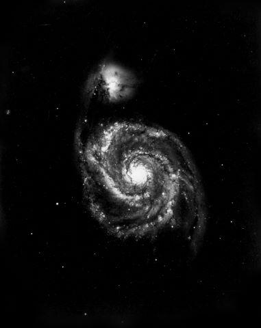 Galaxie du tourbillon (M51) dans la constellation des Chiens de chasse