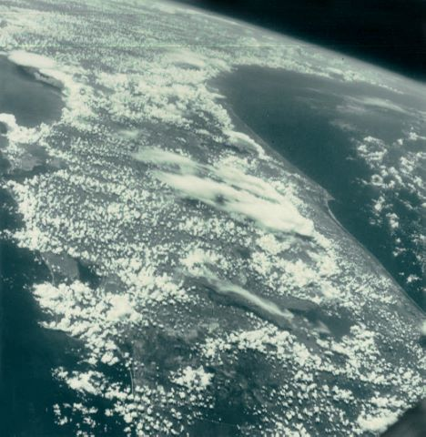 La Floride depuis l'orbite durant le vol de Gemini 5