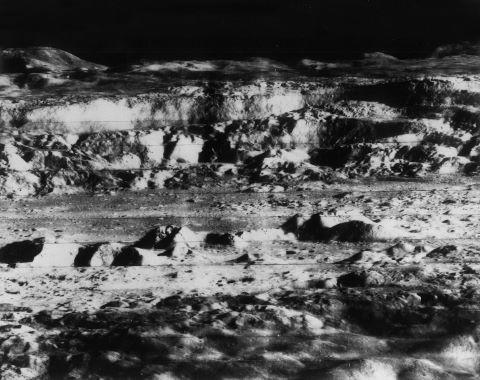 Vue oblique du cratère Copernic à l'ouest de l'Océan des tempêtes