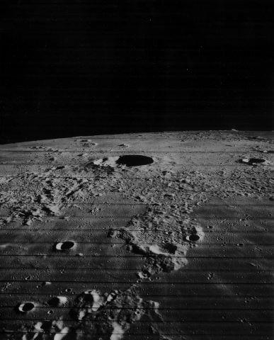 Belle perspective sur les cratères Kepler et Kepler A