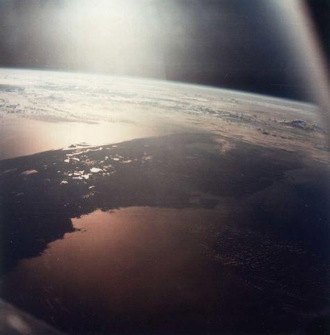 Le Soleil se lève sur le golfe de Mexico