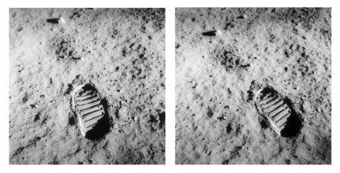 Empreinte de Buzz Aldrin sur le sol lunaire
