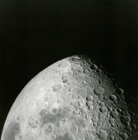 Grand format. Belle vue de la Lune
