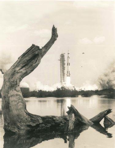 Belle vue sur le décollage d'Apollo 16