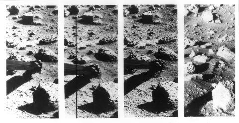 Ensemble de 13 photographies de la surface de Mars par la sonde Viking 2