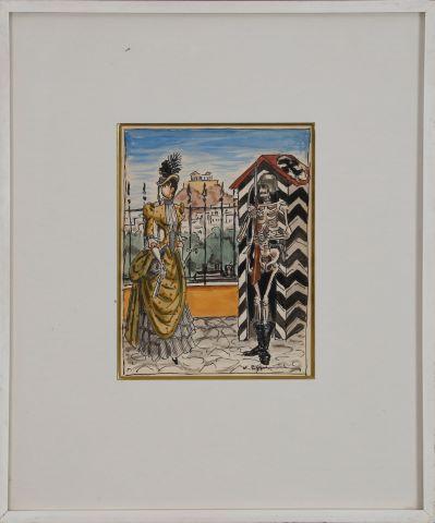 Au rendez-vous allemand (Ενθύμιον της κατοχής. Αθηναία κυρία μπροστά σε Γερμανό κατακτητή)