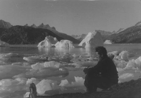 Autoportrait au bord du fjord Groenland, Kangerlussuatsiaq
