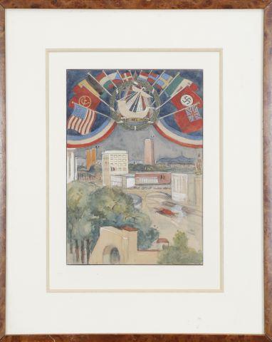 Étude de pavillon pour l'Exposition Universelle de 1937