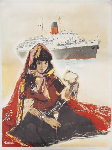 Affiche pour une compagnie maritime