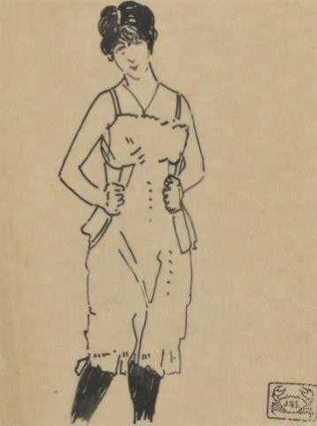 Femme au corset