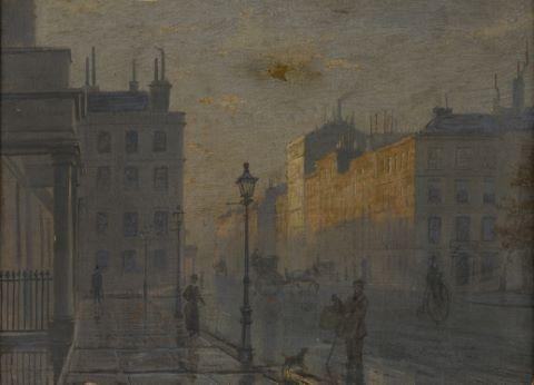 Grosvenor square after a shower