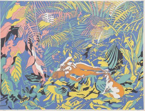 Femme dans la jungle