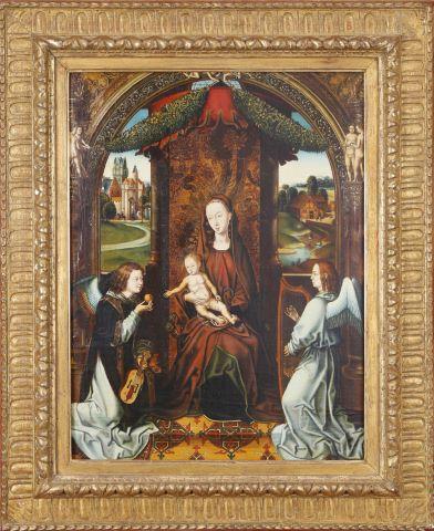 La Vierge à l'Enfant entourée d'anges