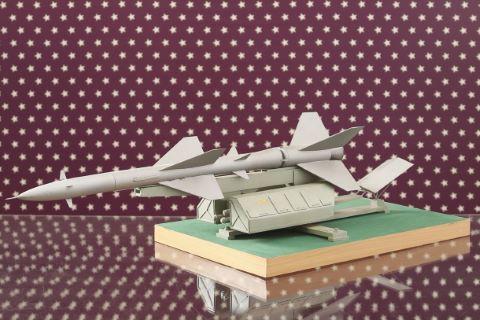 Maquette du site du lanceur de missile soviétique V750 VK SAM 2« Guideline »