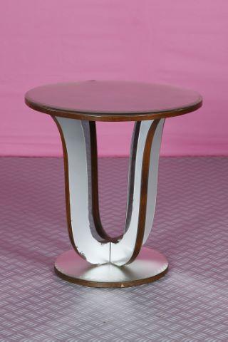 Petite table basse miroir