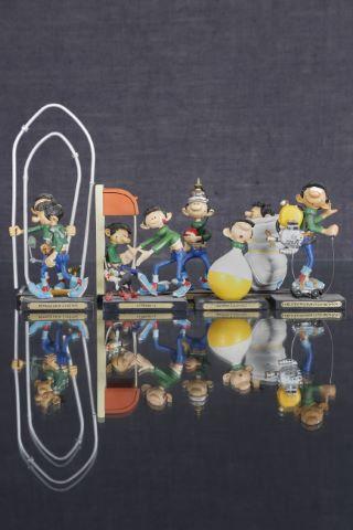 8 figurines Gaston Lagaffe