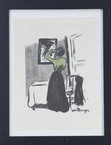 Jeune femme au miroir