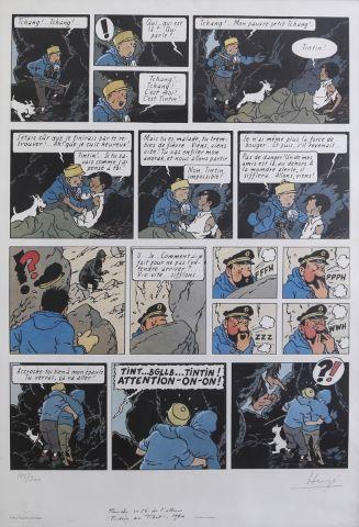Tintin au Tibet, reprise de la planche 30