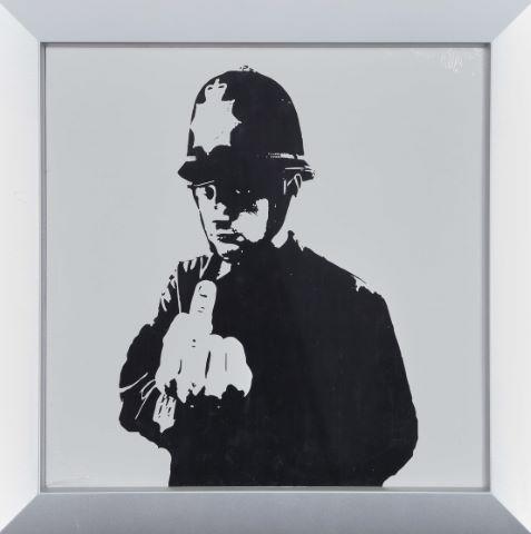 D'après Keith Haring (1958-1990) & D'après Banksy (né en 1974)