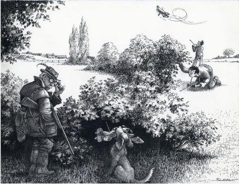 Scène de chasse, Chasse & pêche