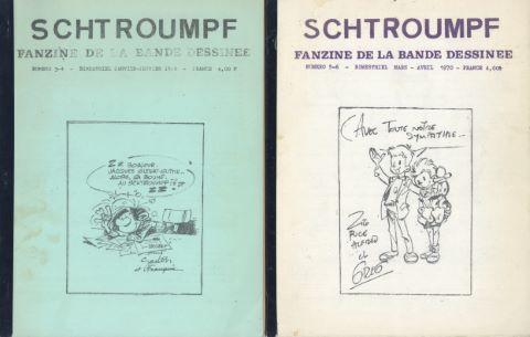 Schtroumpf ronéotypés n°1, 2, 3/4 et 5/6