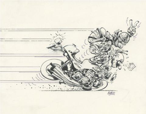 Encyclopédie imbécile de la moto, couverture