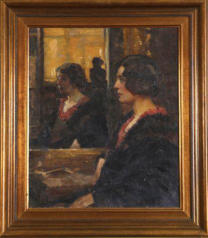 Portrait de femme dans le miroir