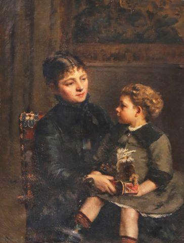 École française du XIXe siècle, dans le goût d'Alfred Stevens