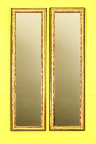 Paire de miroirs rectangulaires