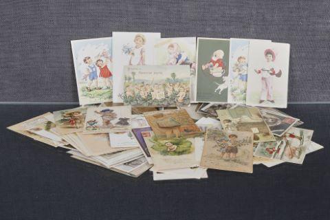 Environ 150 cartes postales anciennes