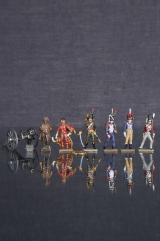 5 soldats de plomb Napoléoniens