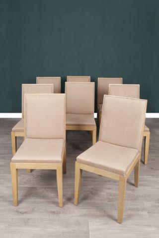 Suite de 8 chaises
