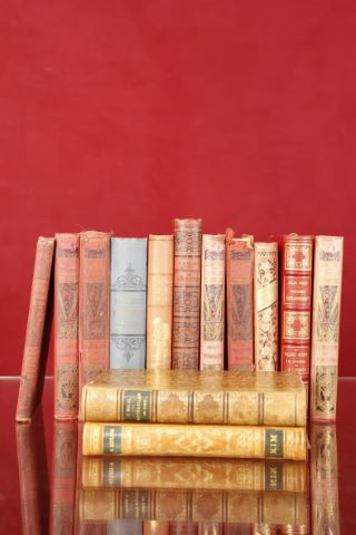 Ensemble de cartonnages XIXe,13 volumes dont :