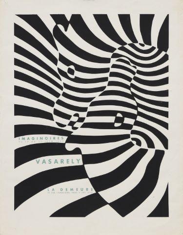Affiche pour l'exposition Imaginoires à la galerie La Demeure du 12 au 30 juin 1959