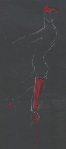Ensemble de 10 dessins - études de nus