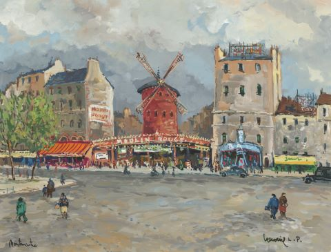 Le Moulin Rouge, Montmartre