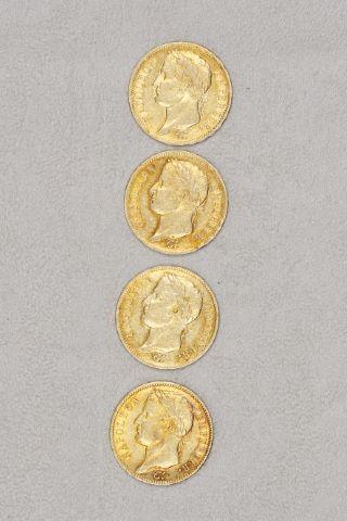 4 pièces 40 francs or tête laurée