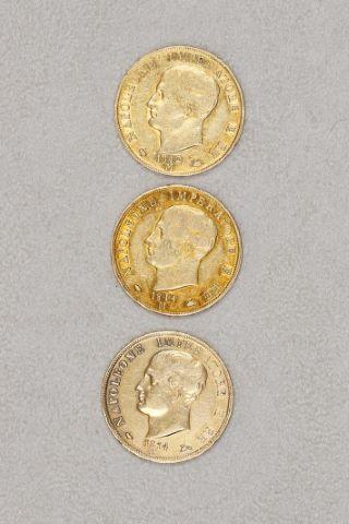3 pièces 40 lires or