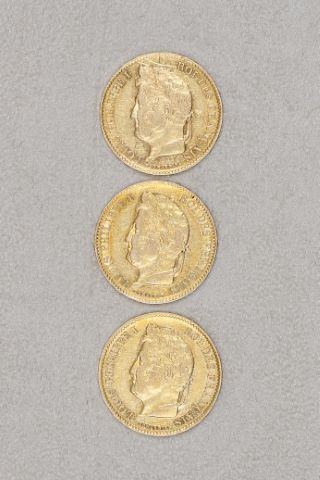 3 pièces de 40 francs or