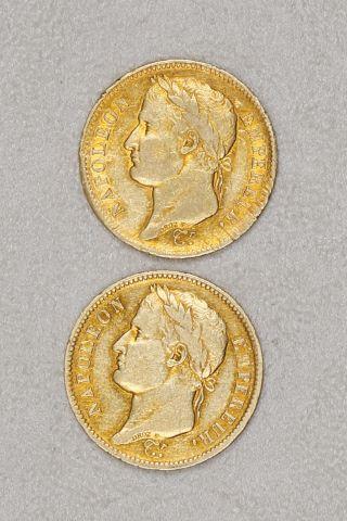 2 pièces 40 francs or tête laurée