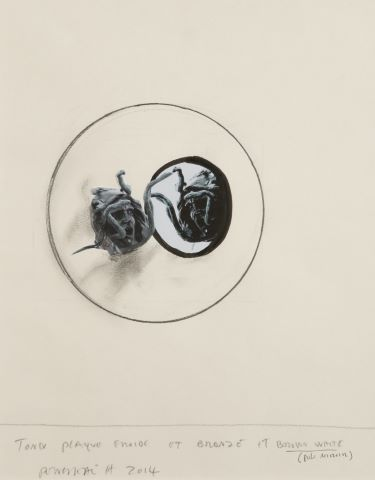 Tondi plaque froide et bronze et brown white (poli miroir)