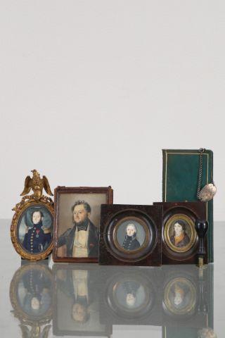 4 miniatures famille Beaufils de la Rancheraye