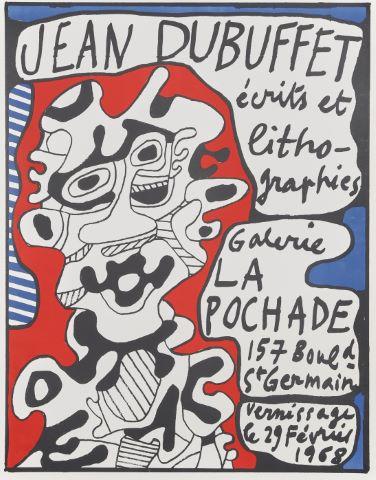 Affiche de l'exposition Écrits et lithographies à la Galerie La Pochade