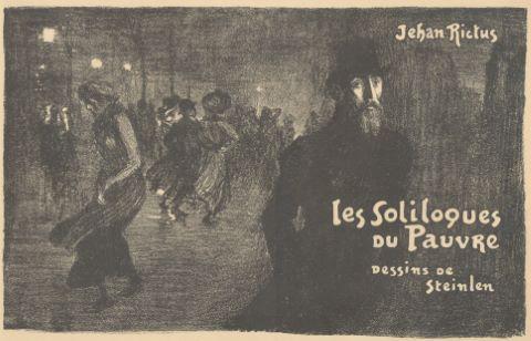 Paris la nuit, couverture pour Les Soliloques du Pauvre de Jehan Rictus