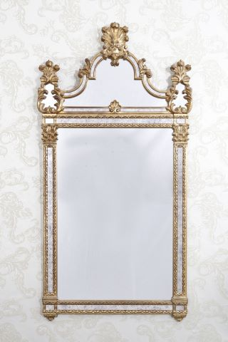 Miroir à fronton et parcloses