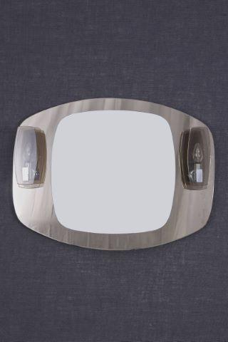 Miroir bicolore à 2 appliques de lumière